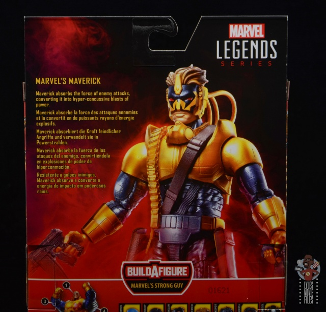 marvel legends maverick figure review - package bio