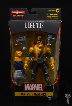 marvel legends maverick figure review -package front