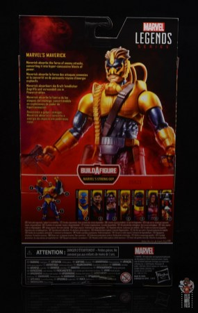 marvel legends maverick figure review - package rear