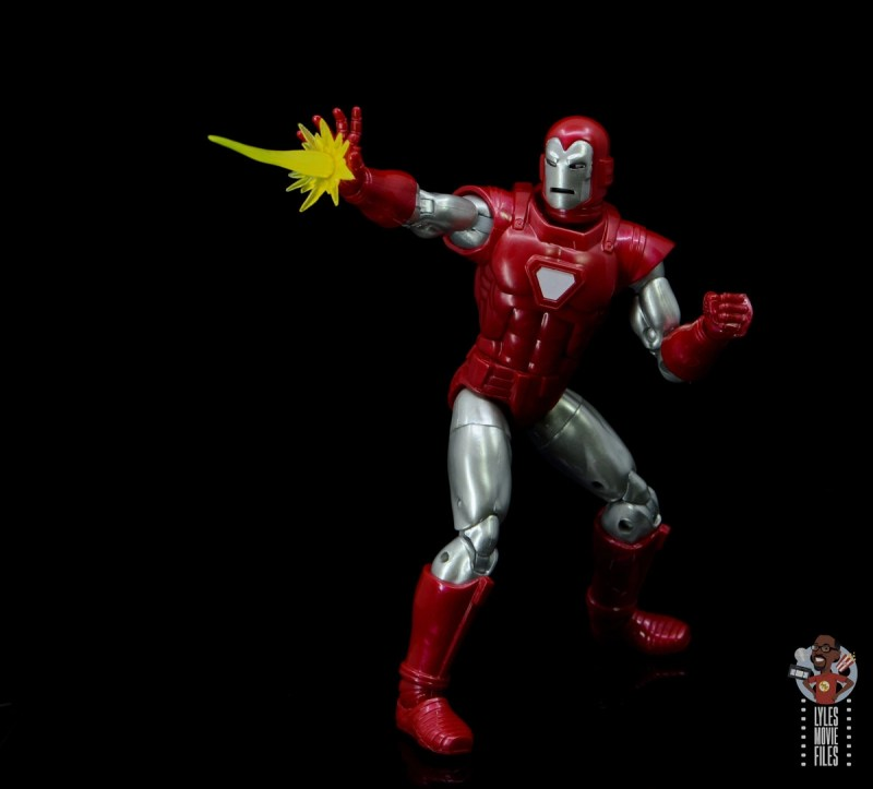 marvel legends silver centurion iron man figure review - blasting repulsor