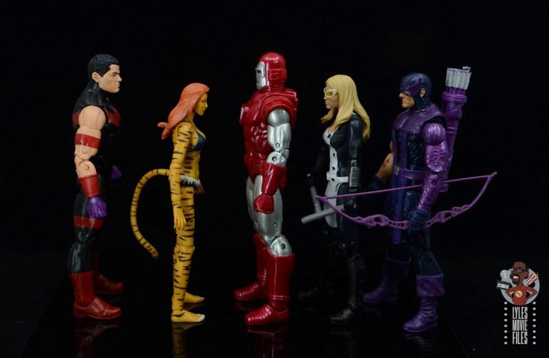 marvel legends silver centurion iron man figure review -facing west coast avengers