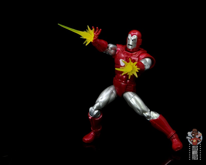 marvel legends silver centurion iron man figure review - firing repulsors