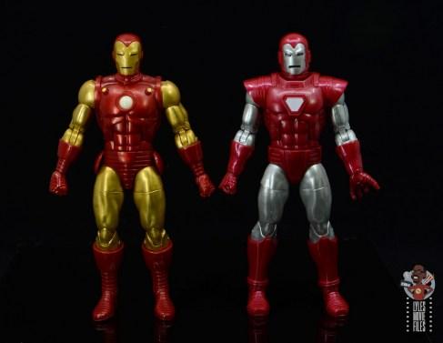 marvel legends silver centurion iron man figure review - next to iron man 80th figure
