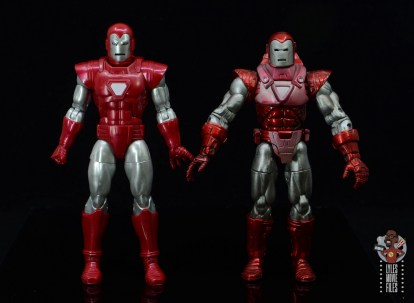 marvel legends silver centurion iron man figure review - side by side with toy biz silver centurion iron man