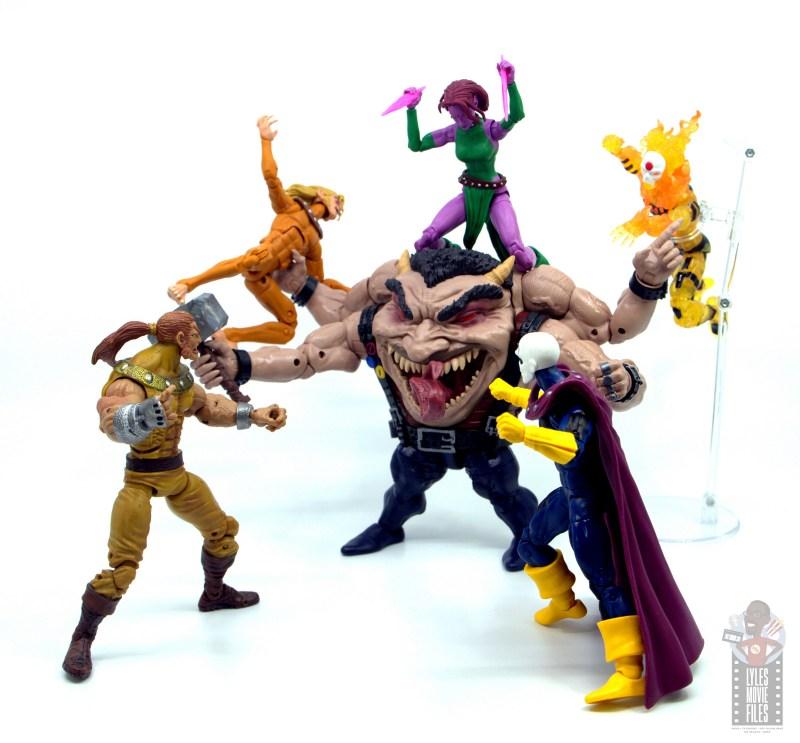 marvel legends sugar man build-a-figure review - fighting x-men