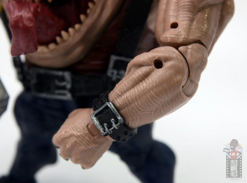 marvel legends sugar man build-a-figure review - forearm detail