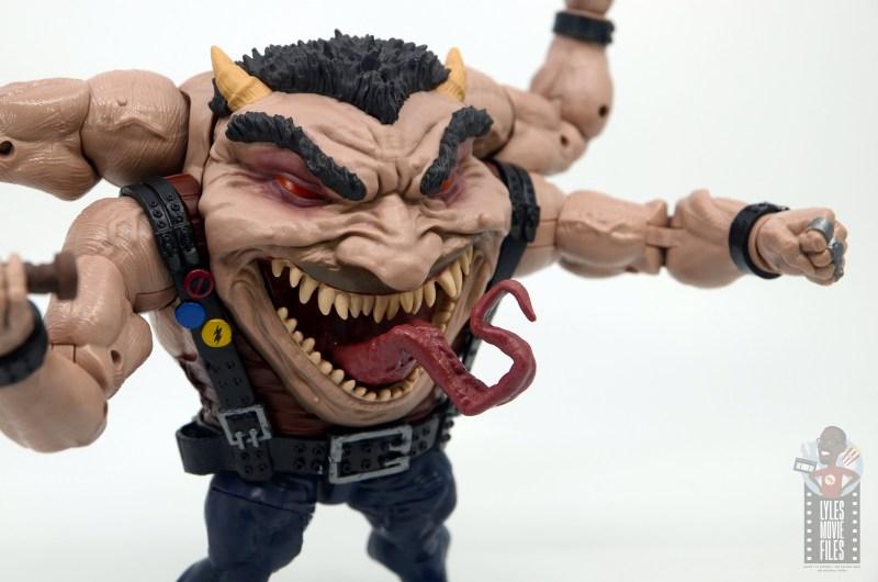 marvel legends sugar man build-a-figure review -tongue detail