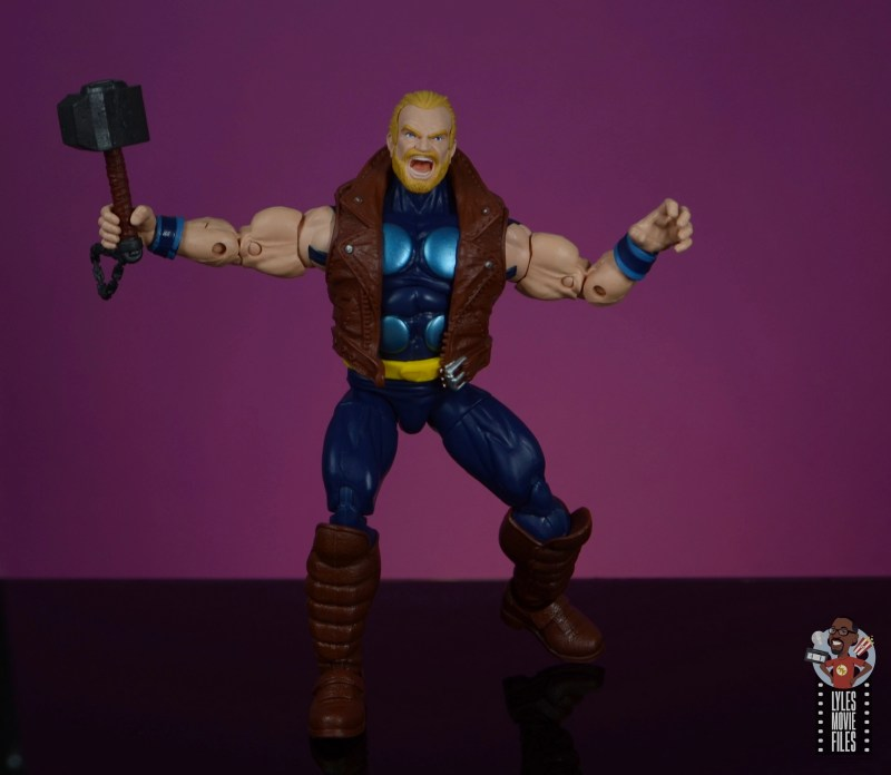marvel legends thunderstrike figure review - about to fly