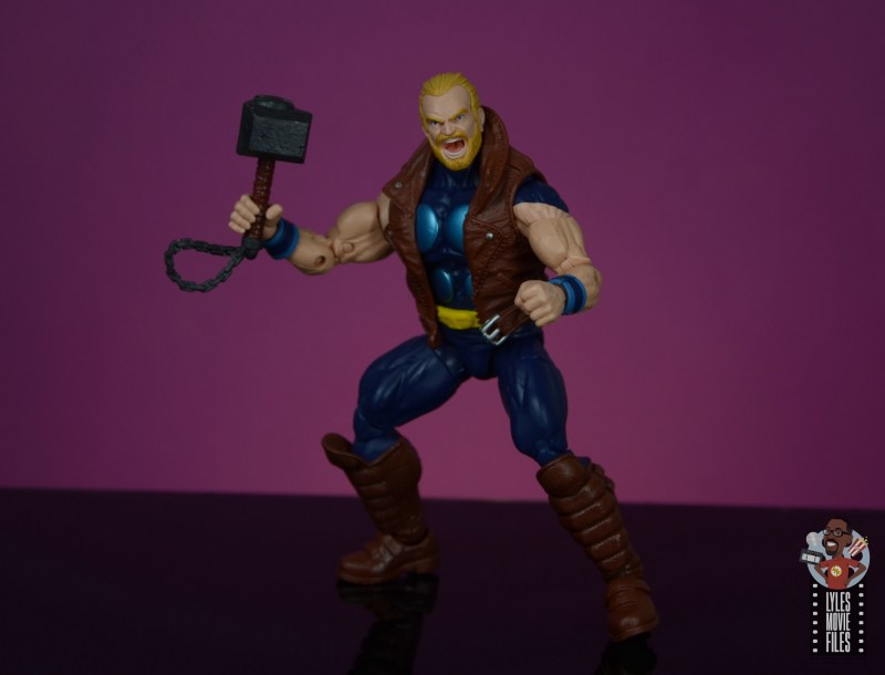 marvel legends thunderstrike figure review -battle stance