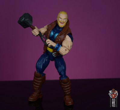 marvel legends thunderstrike figure review -clutching mace
