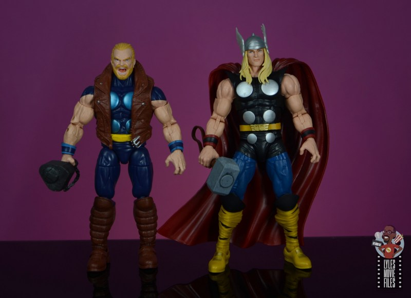 marvel legends thunderstrike figure review - scale with thor