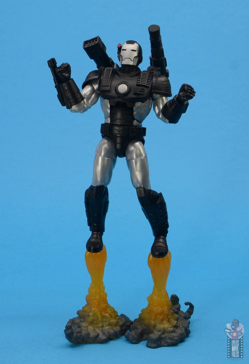 marvel legends war machine figure review - flying off base