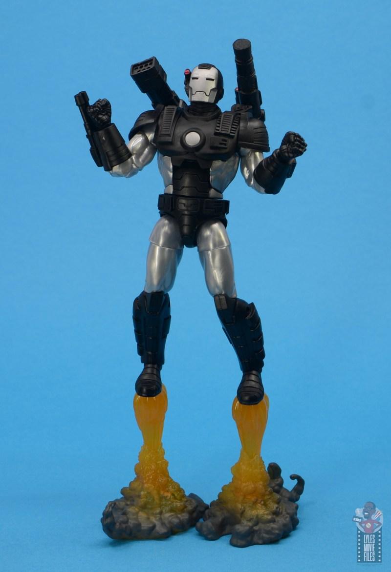 marvel legends war machine figure review - flying off base