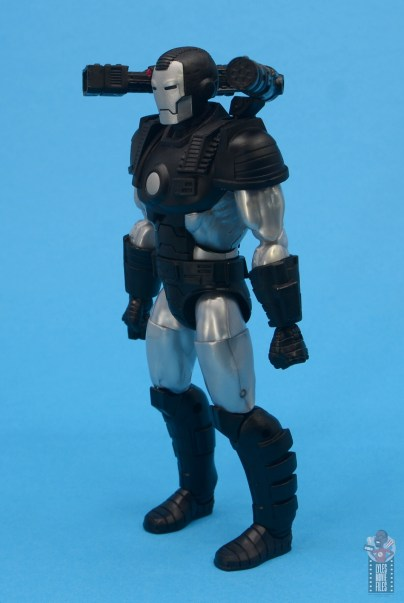 marvel legends war machine figure review - left side