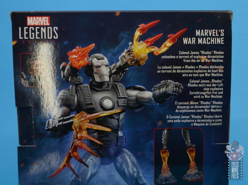 marvel legends war machine figure review - package bio