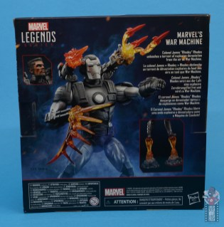 marvel legends war machine figure review - package rear