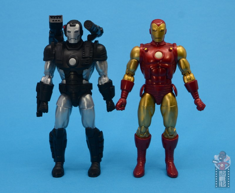 marvel legends war machine figure review - scale with iron man