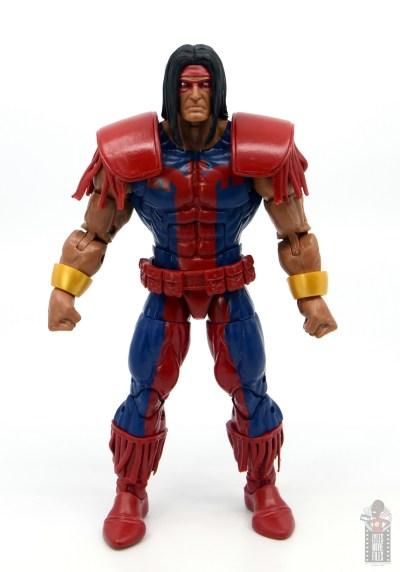 marvel legends warpath figure review - front