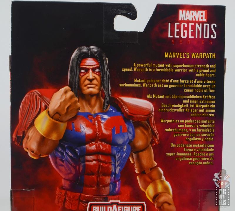 marvel legends warpath figure review - package bio