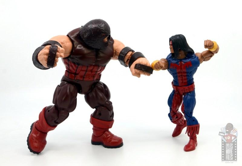 marvel legends warpath figure review - vs juggernaut