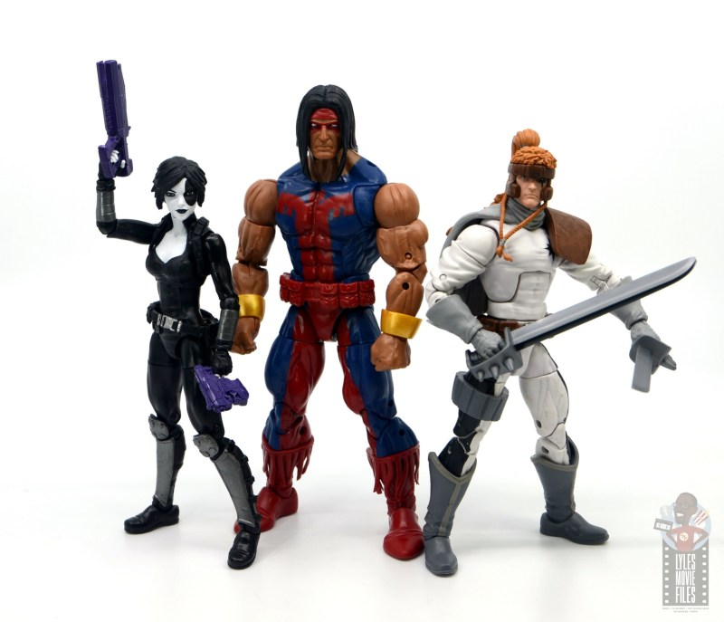 marvel legends warpath figure review - with domino and shatterstar