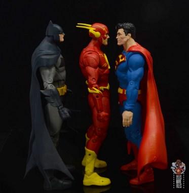 mcfarlane toys dc multiverse the flash figure review - facing batman and superman