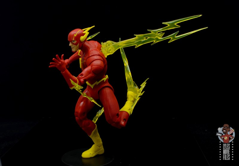 mcfarlane toys dc multiverse the flash figure review - lightning accessories detail