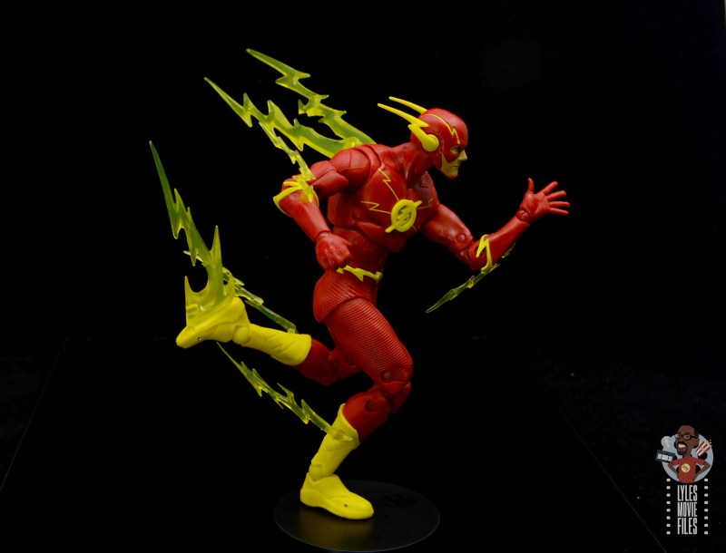 mcfarlane toys dc multiverse the flash figure review - lightning trail right side
