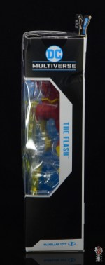 mcfarlane toys dc multiverse the flash figure review - package left side