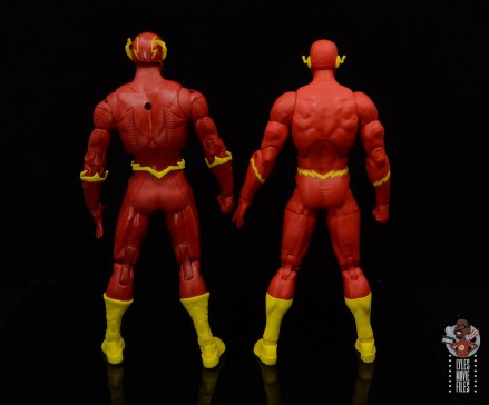 mcfarlane toys dc multiverse the flash figure review - rear with dc essentials flash