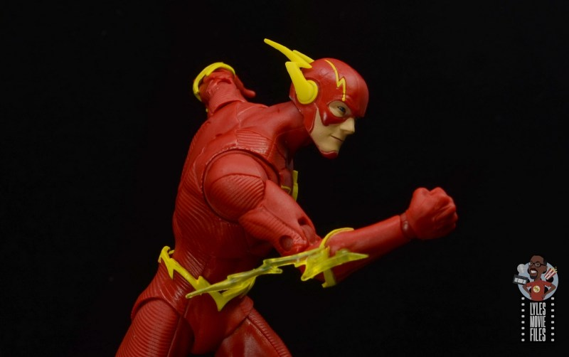 mcfarlane toys dc multiverse the flash figure review -running close up