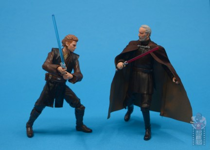 star wars the black series anakin skywalker padawan figure review - face off with count dooku