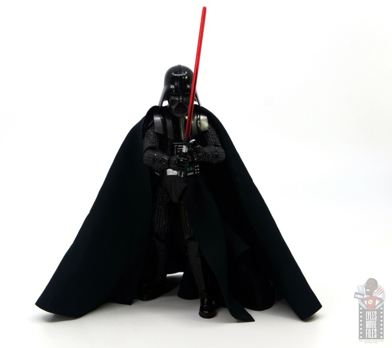 star wars the black series darth vader figure review - showcasing stance