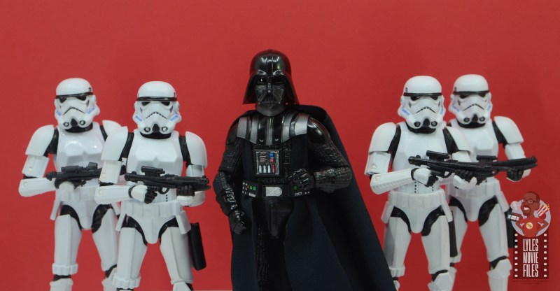 star wars the black series darth vader figure review - with stormtrooper fleet