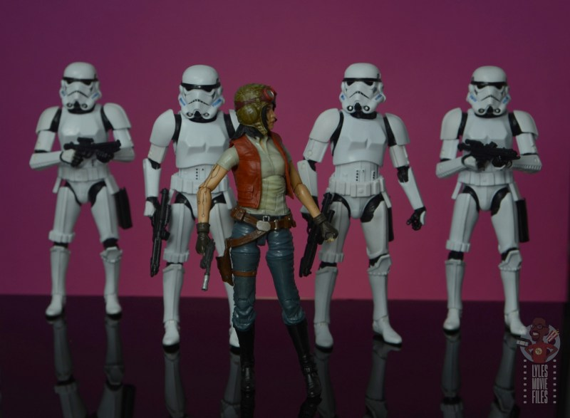 star wars the black series doctor aphra figure review - on assignment for darth vader with stormtroopers