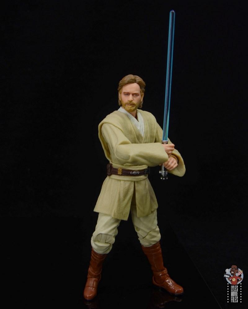 star wars the black series obi-wan kenobi figure review -battle stance