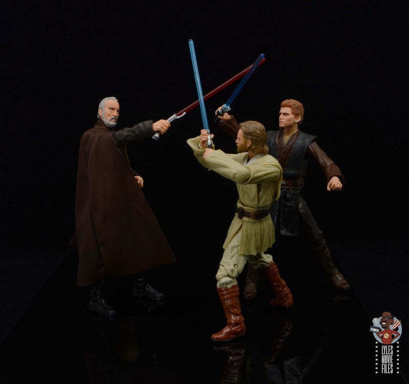 star wars the black series obi-wan kenobi figure review - vs count dooku with anakin
