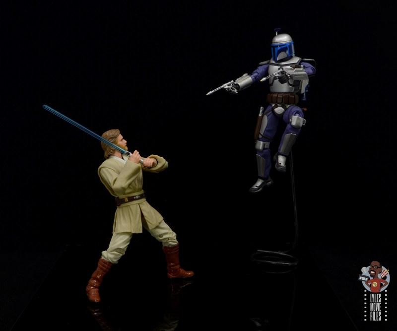 star wars the black series obi-wan kenobi figure review - vs jango fett
