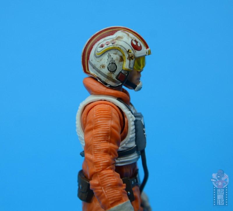 star wars the black series snowspeeder luke skywalker figure review -helmet detail