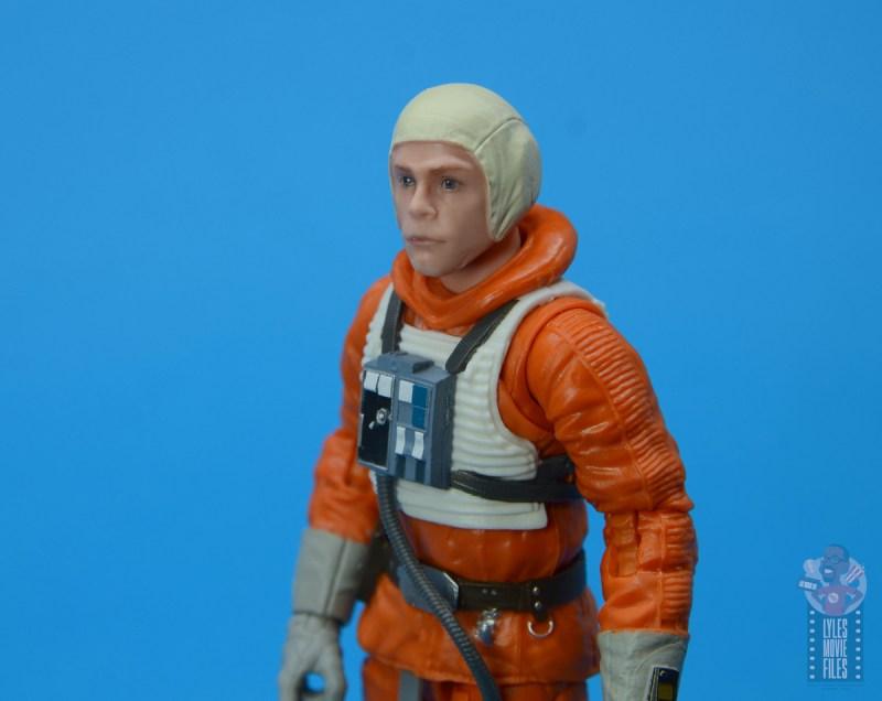 star wars the black series snowspeeder luke skywalker figure review -helmet off closeup