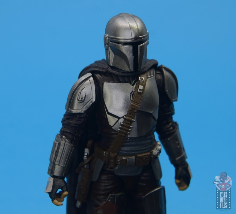 star wars the black series the mandalorian beskar armor figure review - mudhorn detail
