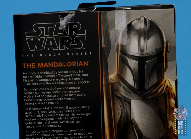 star wars the black series the mandalorian beskar armor figure review - package bio