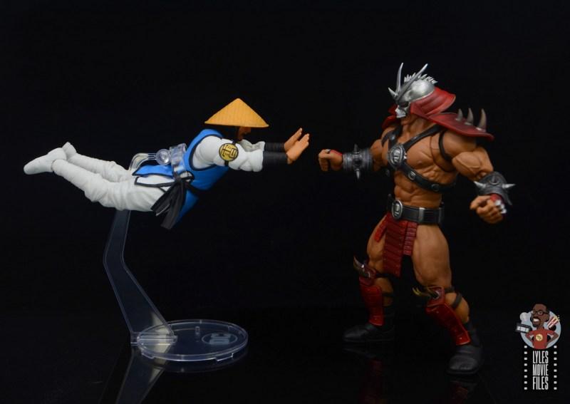 storm collectibles mortal kombat raiden figure review - flying toward shao khan
