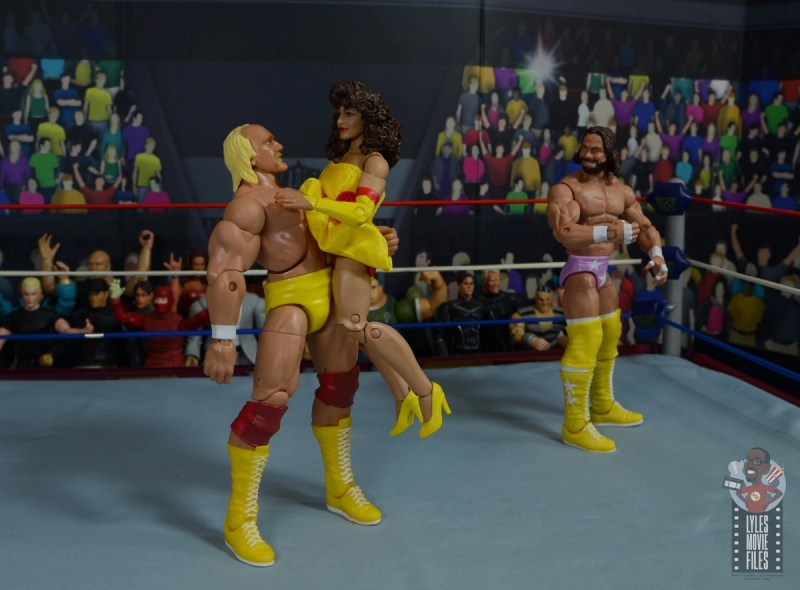 wwe elite series 77 miss elizabeth figure review - macho man seeing the lust in hogan's eyes