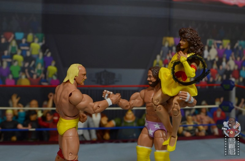 wwe elite series 77 miss elizabeth figure review -megapowers handshake