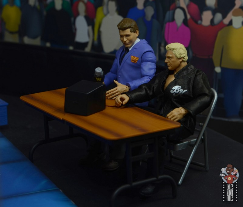 wwe elite vince mcmahon figure review - on commentary with the brain