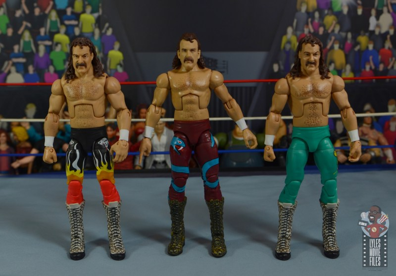 wwe legends 8 jake the snake roberts figure review -with other jakes