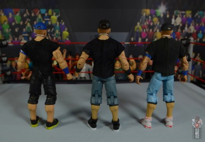 wwe ultimate edition john cena figure review - rear with john cena figures