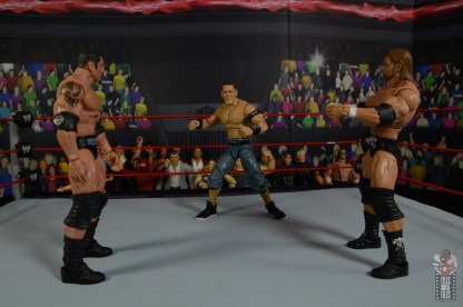 wwe ultimate edition john cena figure review - royal rumble face off with batista and triple h