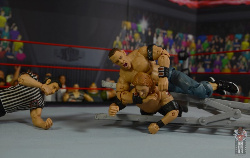 wwe ultimate edition john cena figure review - stf on edge on ladder